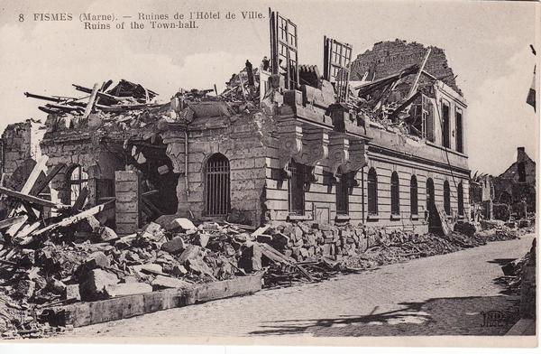 Hotel de Ville Fismes 1918